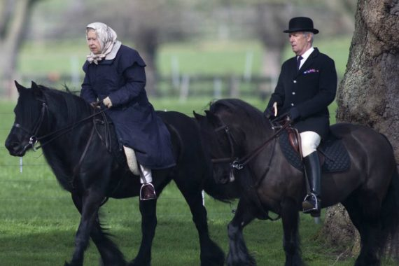 QUEEN OF OUR HEARTS: Queen Elizabeth still Riding at Age 93